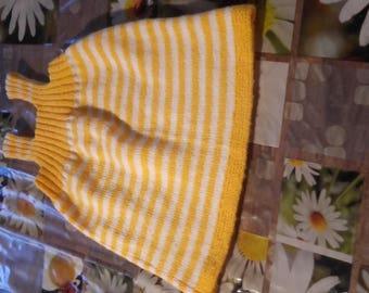Dress hand knit for little girl