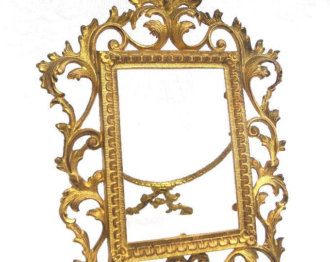 """Ormolu Antique Frame, French Picture Frame, 19th Century, 1894, 12.5"""" x 8"""", Excellent Condition, Ideal for Photo or Picture"""