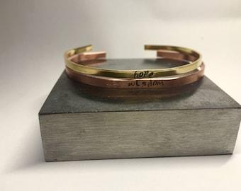Skinny Stamped Bracelet