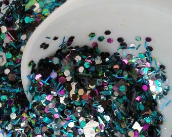 Nail Glitter Mix - Disco - Handmade - Raw Glitter Mix *1 TSP for Nails and Crafts