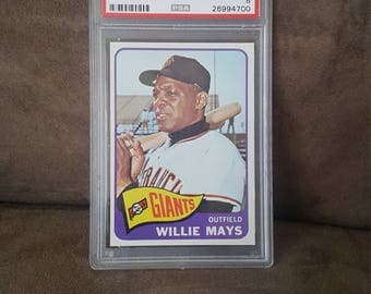 1965 Topps Willie Mays #250 PSA 8 Baseball Card