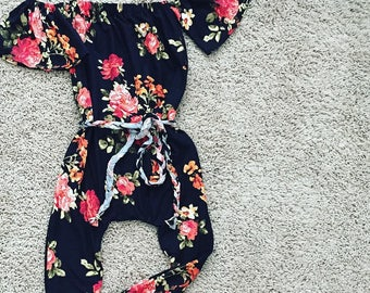 Baby Girl Romper, baby girl clothes, Baby girl outfit, baby clothes, Baby Bodysuit, off shoulder romper, Birthday outfit, babyshower gift