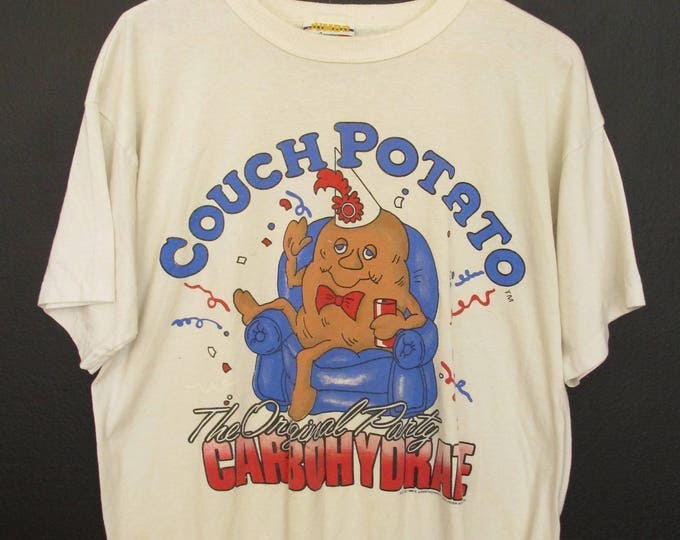 Couch Potato The Original Party Carbohydrate 1988 vintage Tshirt