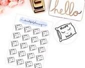 Sleepy Head word script Planner Stickers Pillow, Nap Queen, Lazy Day, for use in ERIN CONDREN LIFEPLANNER ™, Happy Planner, Tn, Midori,