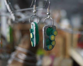 Green Cap earring