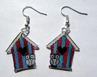 Earrings owls home