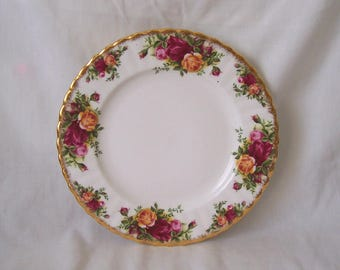 Royal Albert Old Country Roses Salad Plate c.1962