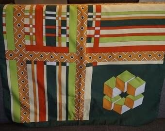 "Vintage Trevura ""Texture"" Scarf/ 1970s Scarf/ Geometric Design"