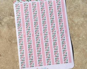 Rose Parade Decortive Sticker Strip Sheet: coordinates with Rose Parade Mini Sampler kit.
