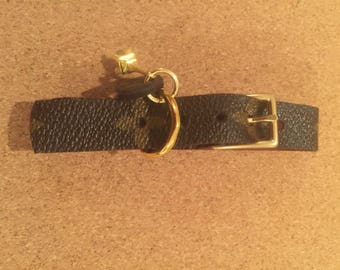 Adjustable dog collar made from Louis Vuitton Canvas