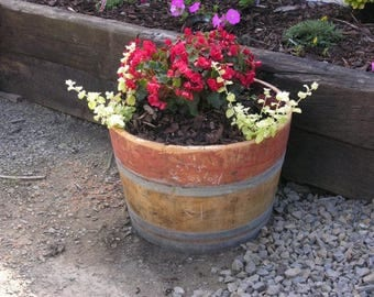 Wine Barrel Garden Planters (Multiple Size Options) - From Oak E Wine Barrels
