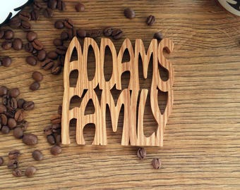 Wooden Family Name  Coaster,  Personalized Coaster, Wood Drink Coaster, Excellent Gift, Housewarming Gift