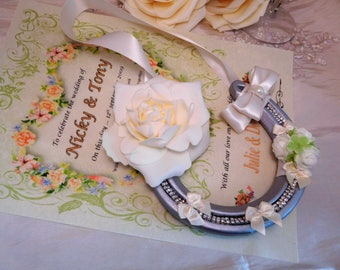 Real wedding lucky horseshoe, personalised.