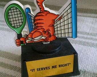 Garfield Tennis Trophy 'Serves Me Right'