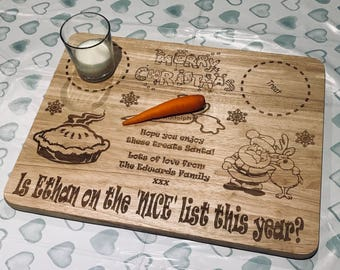 Extra large personalised Christmas Eve board