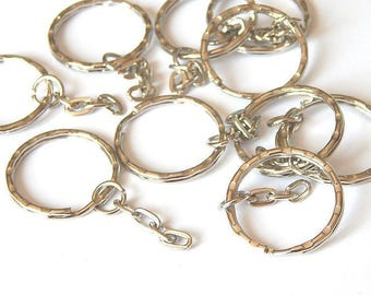 5 metal ring key chain / key holder