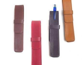 Winston Lambskin Leather Single Pen case
