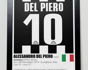 Juventus Football Legends Poster Del Piero