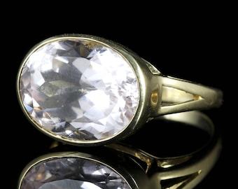 Quartz Ring 9ct Gold 12ct Quartz