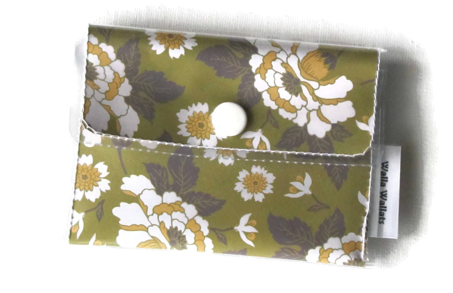 Floral cashcard womens wallet green yellow and white vinyl floral cashcard womens wallet green yellow and white vinyl wallet vintage colourmoves