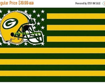 PRE-SEASON SALE 30% Off Green Bay Packers, Packers Nation Flag or Banner 3' x 5'