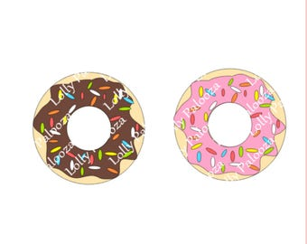Donut DIGITAL File - Instant Download. No Physical Items Shipped.  PNG, SVG, Studio Files