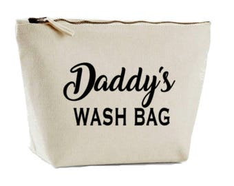 Daddy's Toiletry Bag, Men's Wash Bag, Daddy Gift, Wash Case, Shaving Bag, Shower Bag, Father Gift, Gift For Daddy