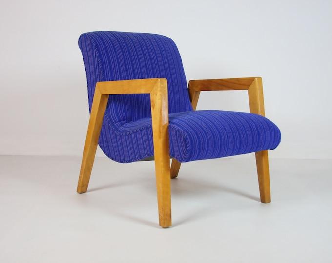Mid Century Modern BLUE CONANT Ball Leslie Diamond SCOOP Chair