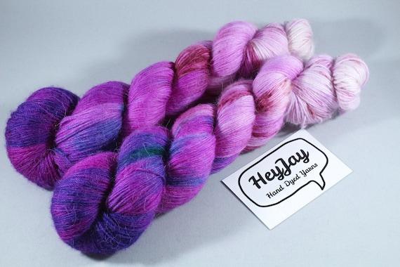 Hand Dyed Alpaca/Merino/Nylon Sock Yarn - Pink Fuzz