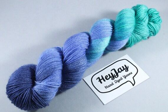 Hand Dyed Sparkle Merino Sock Yarn - Slushy