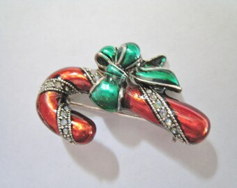 Small Candy Cane Pin