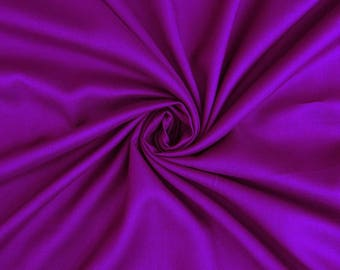 """Plum Rayon Fabric, Dress Fabric, Quilt Material, Sewing Crafts Fabric, 40"""" Inch Apparel Fabric By The Yard PZBR3A"""