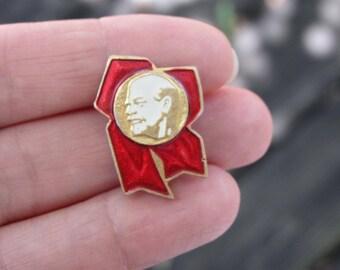 Lenin pin Vintage Soviet Pin Soviet Communist Russian Revolution Leader Propoganda USSR Vintage Pin Badge history communism rare pin