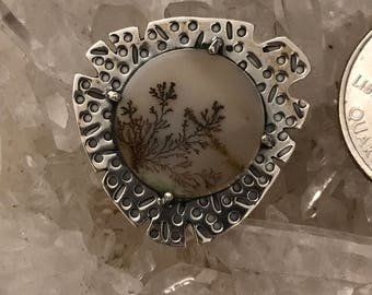 Unique Dendritic Agate Pendant Necklace