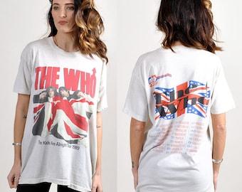 vintage THE WHO 1989 tour tee!!       H12