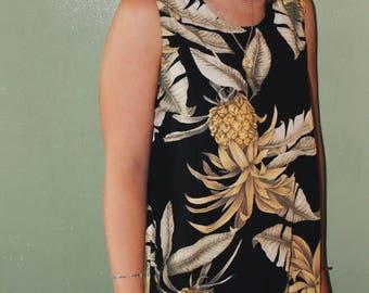 Vintage Tropical Pineapple Dress