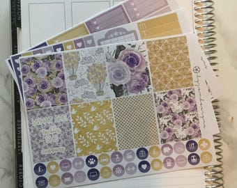 Violet Rose - MINI Weekly Sticker Kit, for use with EC LIFEPLANNER™