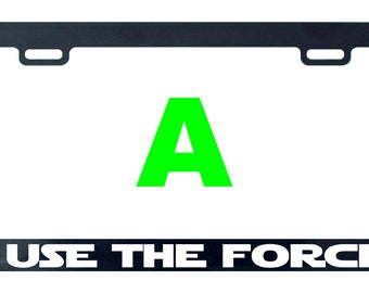 I use the force Star funny license plate frame tag holder decal sticker