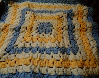 Hand Crocheted Baby Car Seat Coverlet