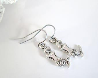 Mermaid Earrings, Silver Meramid, Mermaid Jewelry, Ocean Jewelry, Simple Earrings, Stainless Steel Earring, Dangle Earring, Earring under 20