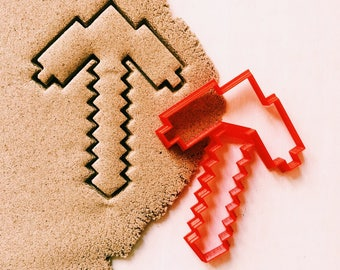 Minecraft pickaxe Cookie Cutter cookiecutter cookies any shape any size