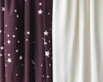 Cozy Lounge Pants in Plum with Ivory Stars
