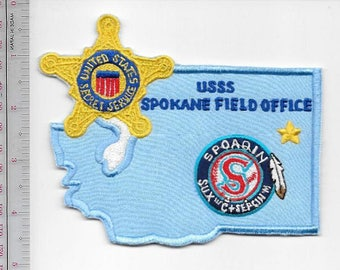 Secret Service USSS Washington State Spokane Field Office Agent Service Patch