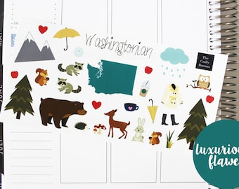 60% OFF** Read Description: LUXURIOUSLY FLAWED, Washingtonian Stickers (Limited Stock)