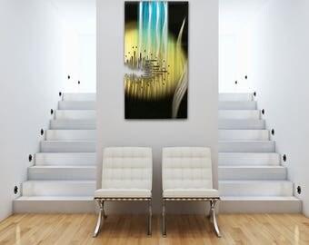 Modern Wall Sculpture, Abstract Wall Decor, Metal Wall Art, Gold Sculpture, Contemporary Metal Art, Office Decor, Aluminum Sculpture,