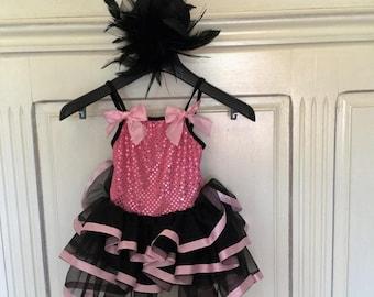Tutu pink and black type burlesque