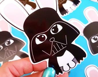 Star Wars Darth Bunny vinyl decal | Darth Vader vinyl sticker | Vinyl Decal laptop | Star Wars stickers | Snowboard Decal kawaii gift