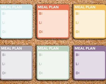 12 Meal Plan | Breakfast, Lunch & Dinner, BLD| Box Stickers for 2017 Inkwell Press IWP-HS60