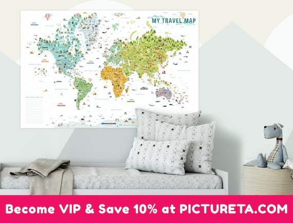 World map for kids travel map interactive kids world map world map for kids travel map interactive kids world map kids world map unique gift for kids travel map world kids room decor usa gumiabroncs Choice Image