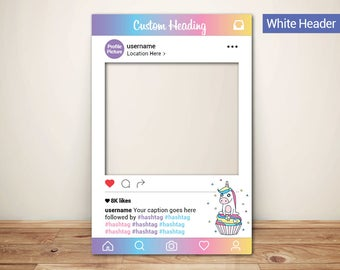 Unicorn Party Photo Props Frame (Digital File Only) Party Decorations | Party Supplies | Banner | Printables | Gift | Party Favors